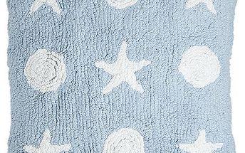 Ručně vyrobený polštář modrý