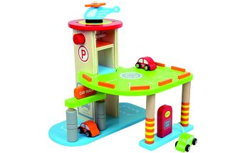 Parkoviště pro auta + autíčka a vrtulník