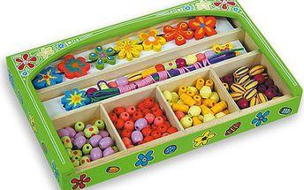 Zelená krabice korálků
