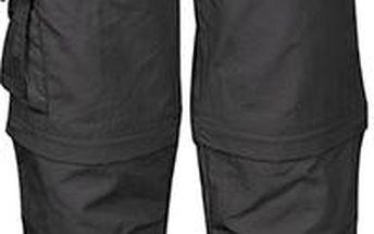 Dětské tmavě šedé rychleschnoucí kalhoty/kraťasy