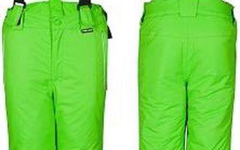 Zelené lyžařské kalhoty