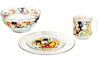 3 dílný jídelní set Mickey Mouse