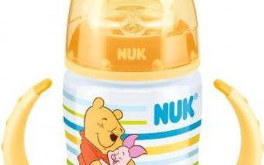 Žlutá FC lahvička na učení PP DISNEY-Medvídek Pú,SI pítko