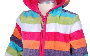 Dívčí microfleezová bunda/mikina