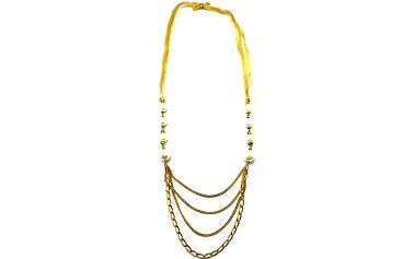 Zlatý náhrdelník s perličkami