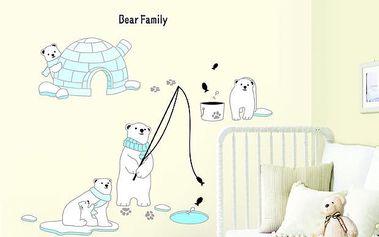 Dekorační samolepky - polární medvídci
