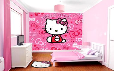 Tapeta Hello Kitty - 305 x 244 cm
