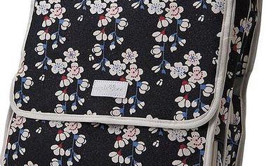 Černá kosmetická taška květy