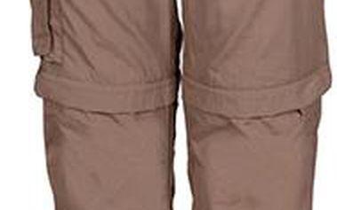 Dětské hnědé rychleschnoucí kalhoty/kraťasy