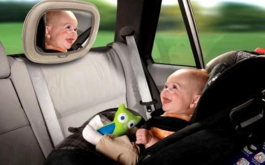 Zpětné zrcátko Baby In-Sight® Soft-Touch™ Mega béžové
