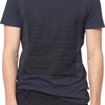 Krásné pánské bavlněné tričko s.Oliver 322461 L tmavě modrá