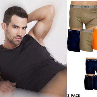 Sexy a stylové boxerky EMPORIO ARMANI 3 ks - velikosti až do XL