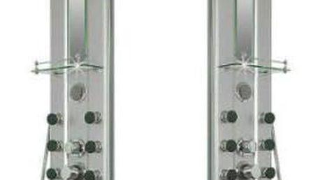 Sprchový masážní panel s vodopádem a sprchovou hlavicí