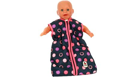 Spací pytel pro panenku do velikosti 45 cm nadchne všechny malé maminky