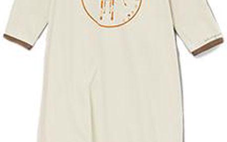 Šedý kabátek s žirafou z BIO bavlny