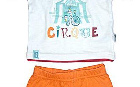 Chlapecký set - oranžovo-bílý