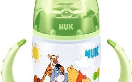 Zelená FC lahvička na učení PP DISNEY-Medvídek Pú,SI pítko