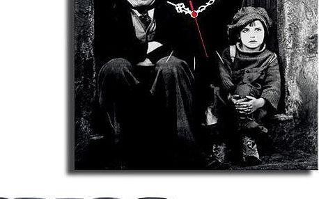 Obrazové hodiny Charlie Chaplin