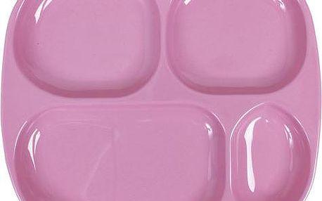 Dělený talířek růžový