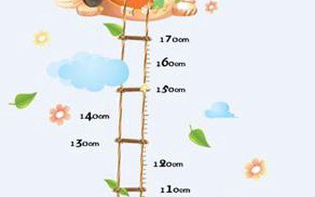 Dekorační samolepky - metr s balónem