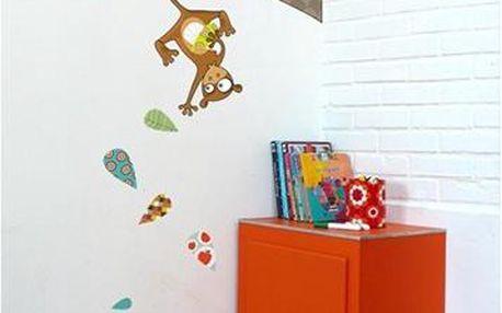 Samolepicí dekorace - Opičky