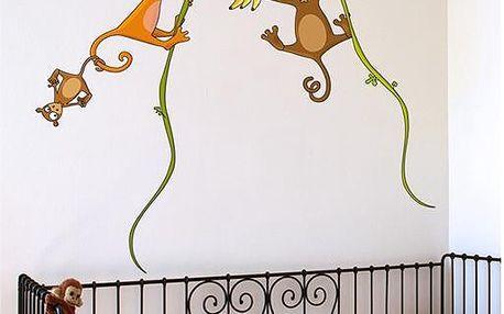 Samolepicí dekorace - Opičí rodina