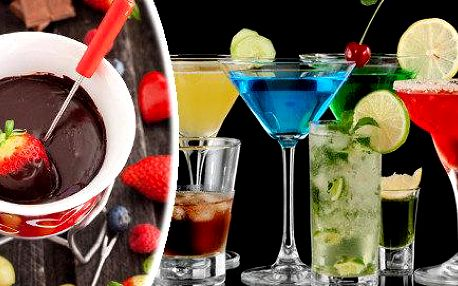 Alkoholické koktejly nebo čokoládové fondue…