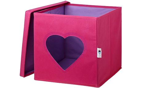 Úložný box s víkem - srdce