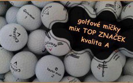 Top golfové míčky Bridgestone, Callaway, Nike, TaylorMade, Titleist a další prověřené značky za úžasnou cenu. Mix 50 ks hraných míčků, kvality A za méně než 10Kč/kus.