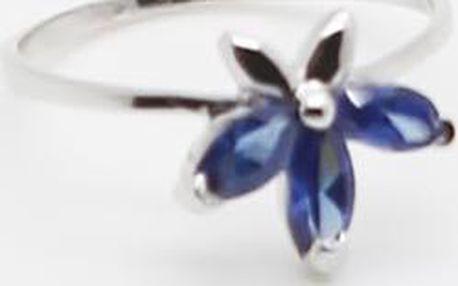Stříbrný prstýnek s modrým zirkonem, stříbro 925