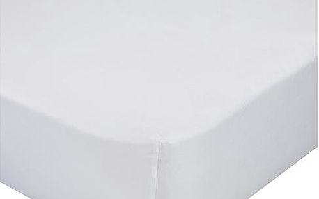 Napínací prostěradlo bílé 90x200 cm