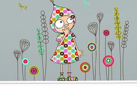 Samolepicí dekorace - Violleta v zahradě