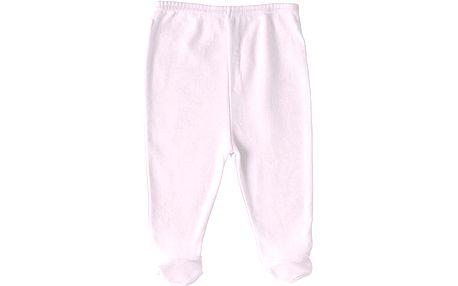 Růžové tepláčky s ťapkami - 3 ks