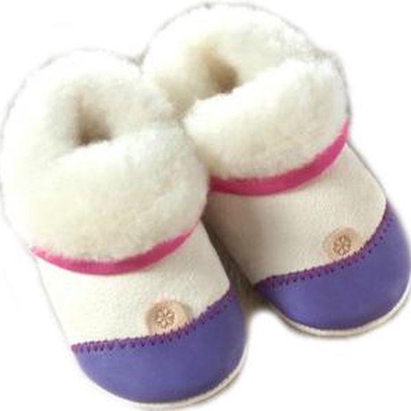 Modro-bílé botičky s chlupatým vnitřkem