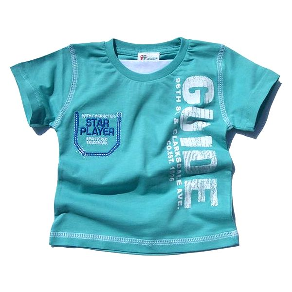 Chlapecké tričko - tyrkysové
