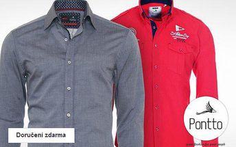 Pánské značkové košile Pontto – 100% bavlna