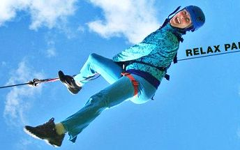 Adrenalinový let na lanovce u hradu Bouzov