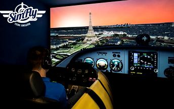 30 nebo 60 minut v leteckém simulátoru