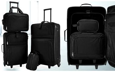 Cestovní kufry - 4dílný set s poštovným zdarma