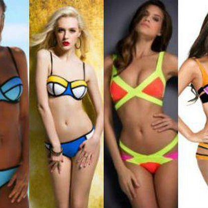 Plážové modely pro rok 2015: módní dvoudílné plavky