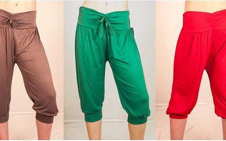 Lehké italské harémové kalhoty v tříčtvrteční délce!