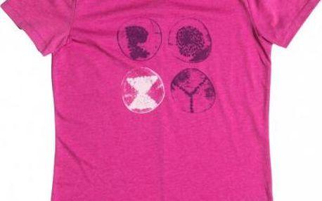 Dámské designové tričko Roxy Basic Crew A Berry Heather M