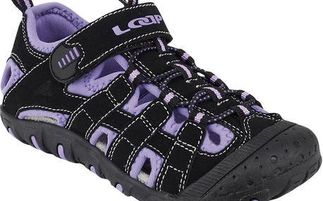Dívčí sandály JAYA - černo-fialové