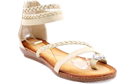 Béžové kotníkové sandálky
