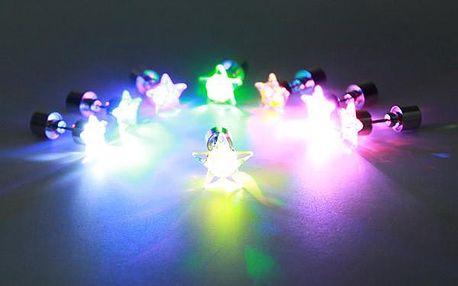 LED náušnice ve tvaru hvězdy - 1 ks