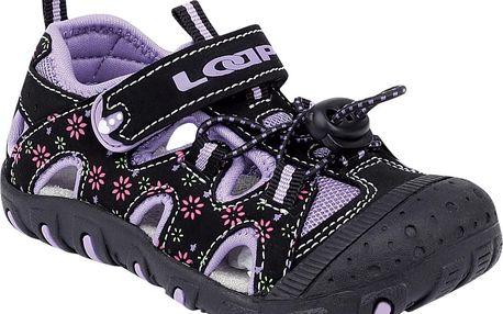 Dívčí sandály LILY - černo - fialové