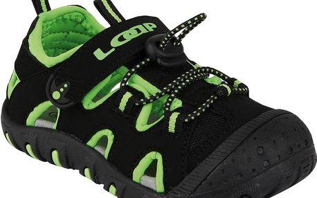 Chlapecké sandály LILY - černo - zelené