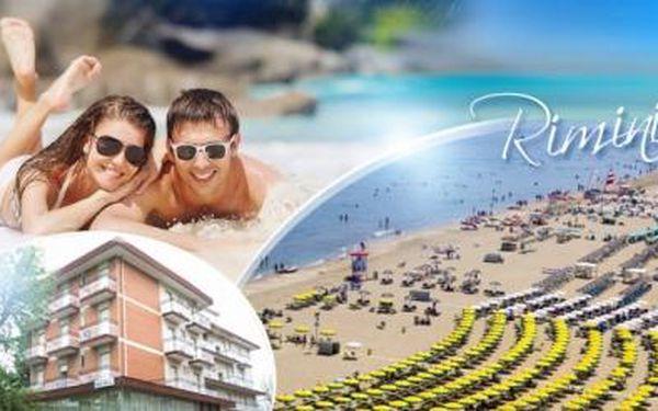 ITÁLIE - RIMINI v září! 8 dní pro 1 osobu včetně POLOPENZE v hotelu** jen 300 m od písečné pláže!