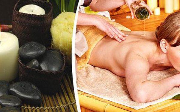 90 minut olejové, anistres, aroma, orient nebo hot stones masáží