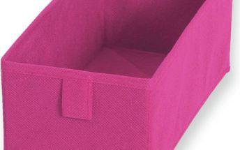 Sada 2 textilních zásuvek/boxů Drawer Fuchsia, 13x28 cm